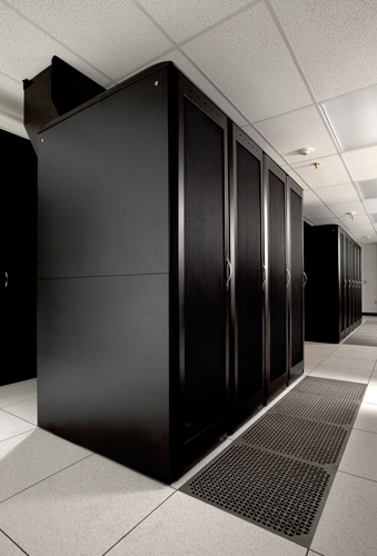 Cold Aisle in BlueLock's Data Center